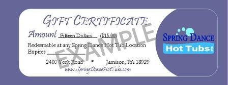 Gift Certificate ($25 - $100)