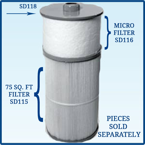 Micro Clean Filter For Sundance Spas 75 Sq Foot Spring