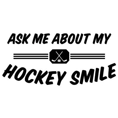 Ask Me About My Hockey Smile Onesie