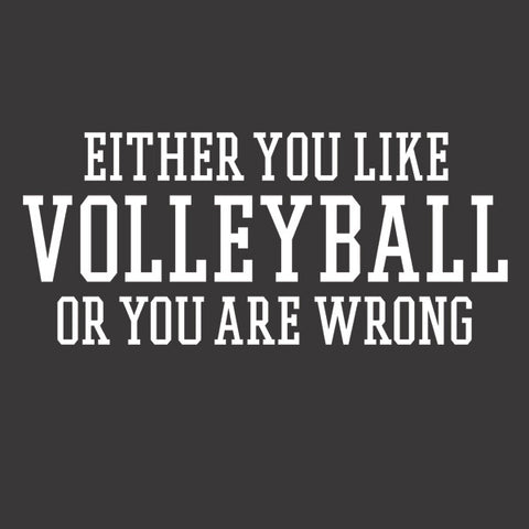 Either You Like Volleyball or You're Wrong Shirt