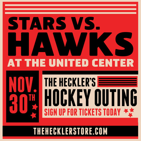 Thursday Nov. 30 Blackhawks-Stars game and pre-party