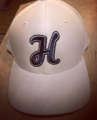 White Heckler H hat