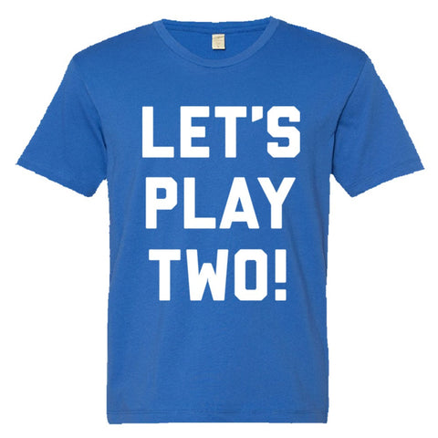 Let's Play Two Shirt Men's Super Soft Style  - Royal - 3XL