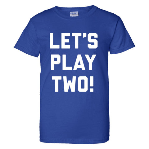 Let's Play Two Shirt Women's Regular Style - Royal - 3XL