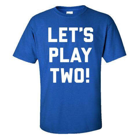 Let's Play Two Shirt Men's Regular Style - Royal - 5XL