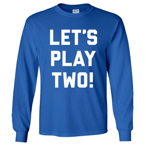 Let's Play Two Shirt Men's Long Sleeve T  - Royal - 5XL