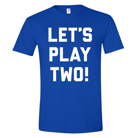 Let's Play Two Shirt Men's Slim Fit  - Royal - 3XL