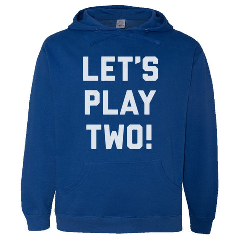 Let's Play Two Shirt Men's Premium Hoody - Royal - 3XL