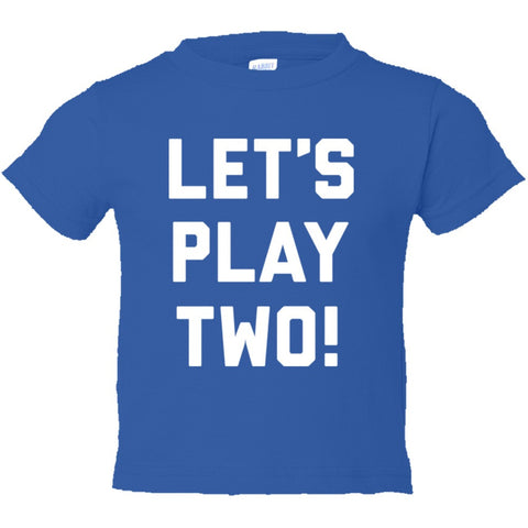 Let's Play Two Shirt Toddler Short Sleeve Tee - Royal - 4