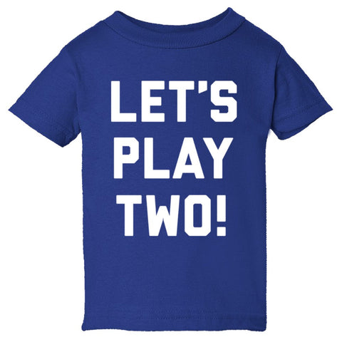 Let's Play Two Shirt Infant Short Sleeve Tee - Royal - 24M