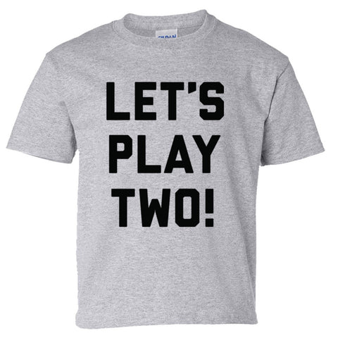 Let's Play Two Shirt Youth Tee  - Sport Grey - XL