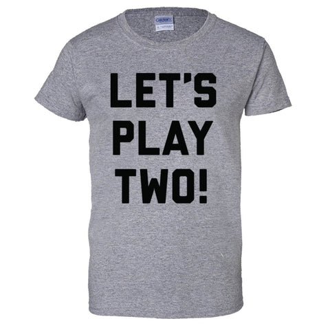 Let's Play Two Shirt Women's Regular Style - Sport Grey - 3XL