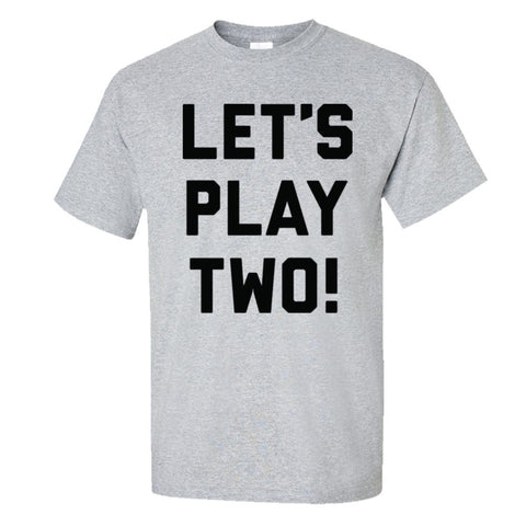 Let's Play Two Shirt Men's Regular Style - Sport Grey - 5XL