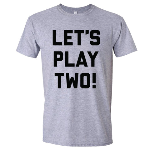 Let's Play Two Shirt Men's Slim Fit  - Sport Grey - 3XL
