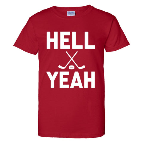 Hell Yeah Hockey Shirt Women's Regular Style - Red - 3XL