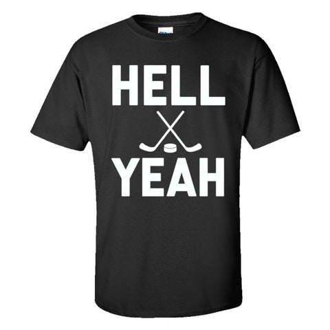 Hell Yeah Hockey Shirt Men's Regular Style - Black - 5XL