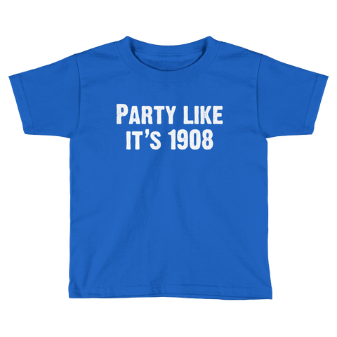 Party Like It's 1908 Kids Short Sleeve T-Shirt