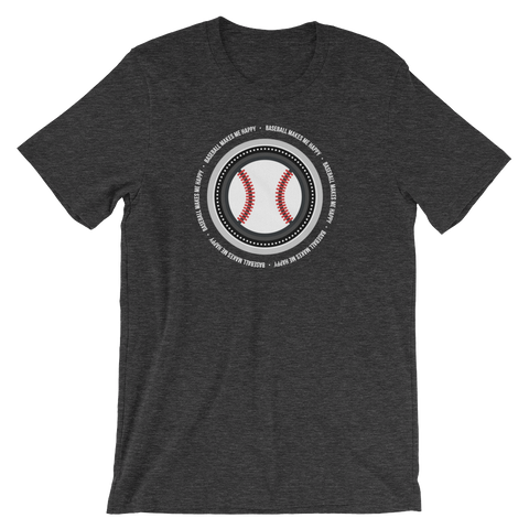 Baseball Makes Me Happy T-Shirt (South Side colors)