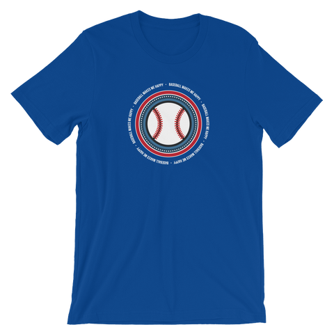 Baseball Makes Me Happy T-Shirt