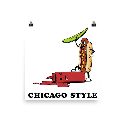 Chicago Style Hot Dog Photo Paper Poster
