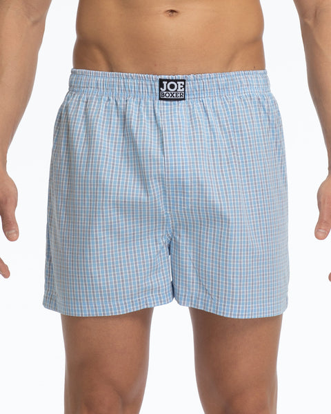 Men's Loose Boxers | Poplin Classic Blue