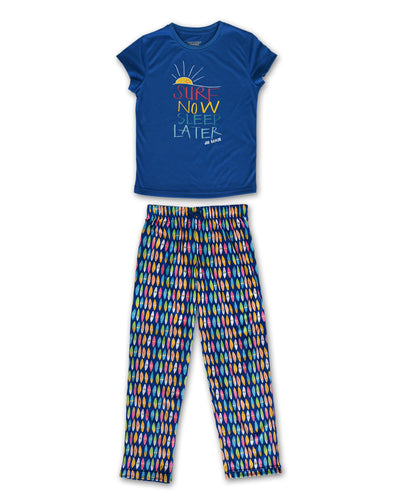 Girls Pajamas | Blue Surf - Joe Boxer