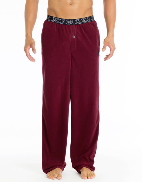 Microfleece Lounge Pant - Burgundy