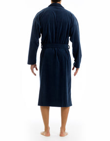 Microfleece Robe - Navy