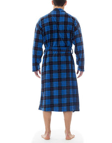 Men's Robe | Blue Plaid