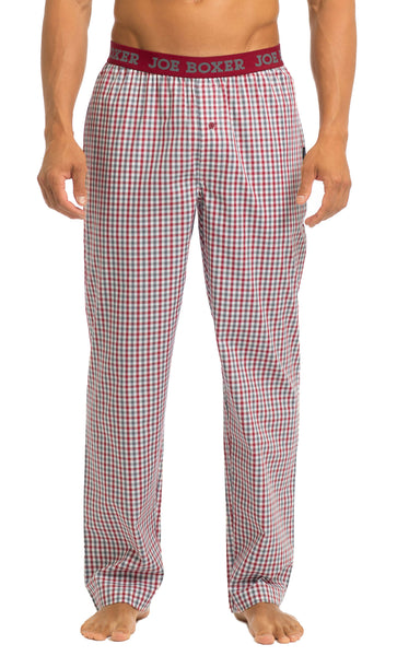 Men's Pajama Pants | Poplin Grey/White