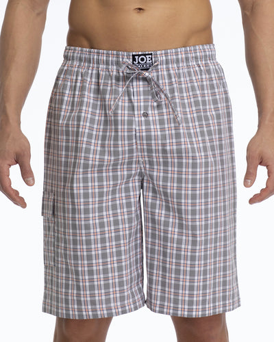 Men's Pajama Shorts | Poplin Grey Check