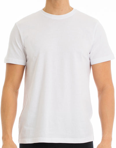 Men's T-Shirt | Crew Neck White 4-Pack