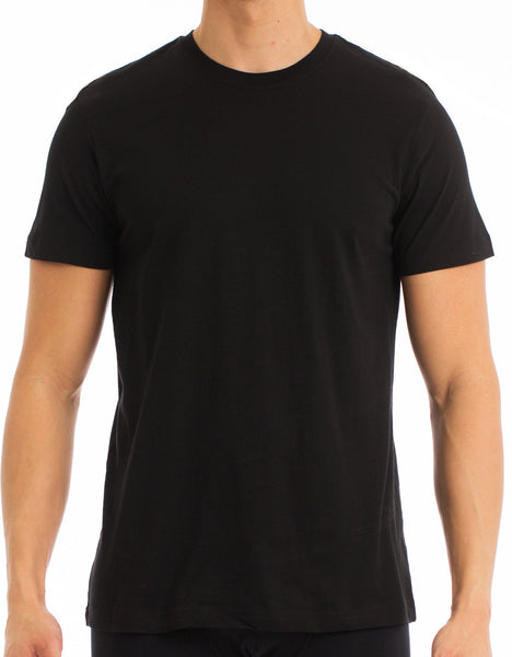 Men's T-Shirt | Crew Neck Black 4-Pack