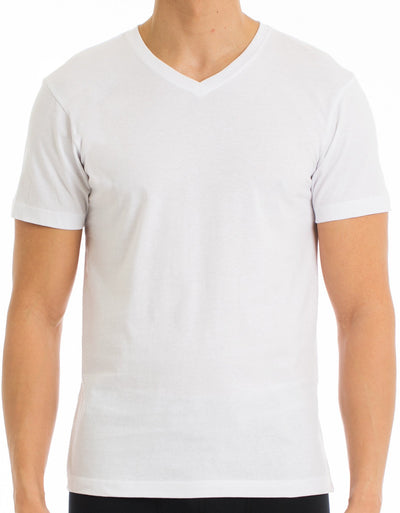 EVERYDAY VALUE -Men's T-Shirt | Classic V-Neck White 8-Pack - Joe Boxer
