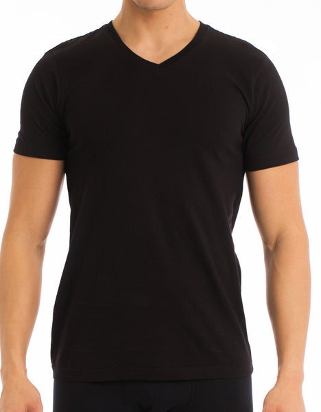EVERYDAY VALUE -Men's T-Shirt | Classic V-Neck Black 8-Pack