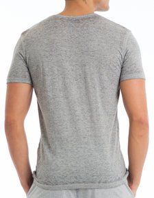 Grey Burn Out Tee