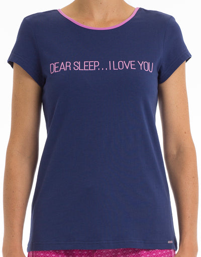 Dear Sleep Scoop Neck Tee - Joe Boxer