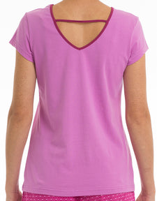 XOXO Scoop Neck Tee