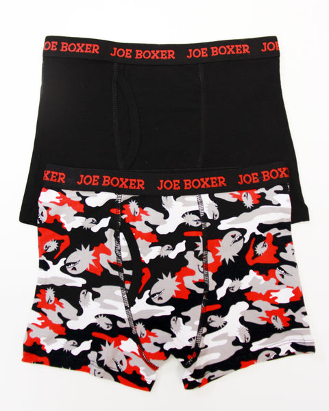 2-Pack Red Camo Boys Boxer Briefs