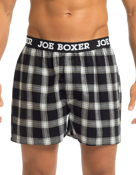 Men's Boxers | Black/Grey Flannel Boxer