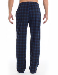 Microfleece Lounge Pant - Blues Check