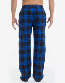 Blue & Black Plaid Flannel Pant