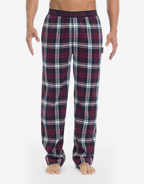 Flannel Pant - Burgundy & Black Plaid