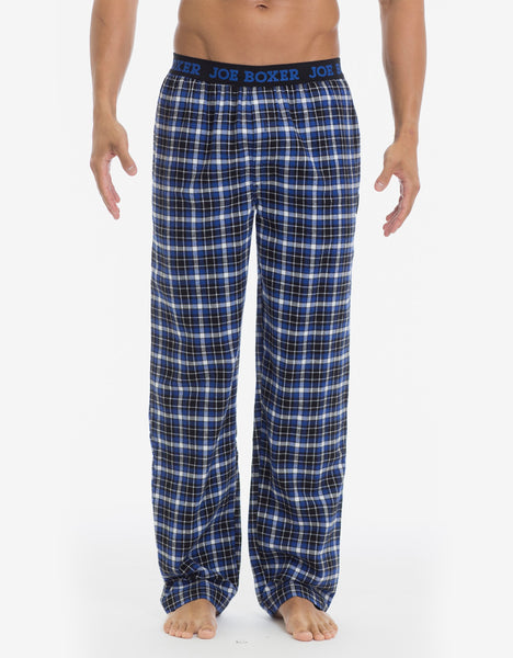 Blue and Black Checkered Flannel Pant
