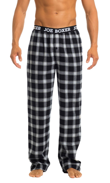 Men's Pajama Pants | Black & Grey Flannel