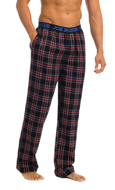Men's Pajama Pants | Black & Red Flannel