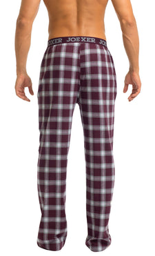 Men's Pajama Pants | Burgundy Flannel