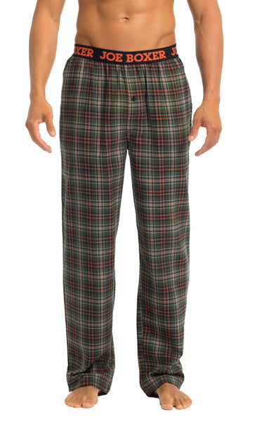 Men's Pajama Pants | Green & Orange Flannel