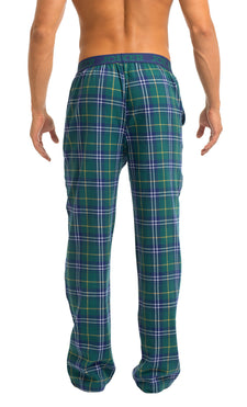 Men's Pajama Pants | Green Plaid Flannel