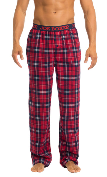 Men's Pajama Pants | Red & Navy Flannel